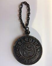 médaille publicitaire vintage 5 F Orangina alliage bronze ancienne noircie,  Ø38