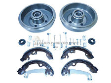 FORD FOCUS MK1 REAR 2 BRAKE DRUMS & SHOES + WHEEL BEARINGS FITTED & FITTING KIT