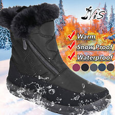 Womens Winter Non-Slip Snow Boots Fur Lined Waterproof Outdoor Hiking Shoes US