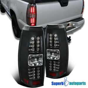 For 2007-2012 Chevy Avalanche Tail Lights LED Brake Lamps Black