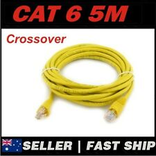 1 x 5m Yellow Cat 6 Cat6 Crossover 1000Mbps Premium RJ45 Ethernet Network Cable