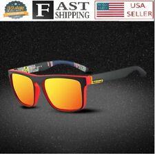 Men Sunglasses Design Red Fire Mirror Lens Polarized Sport Vintage Square 2020