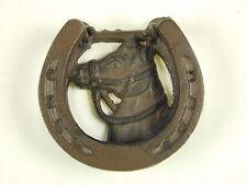 Cast Iron Horse Head Door Knocker Rustic Western Cowboy Horseshoe 4 by 4 Size