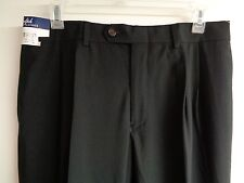 Ralph Lauren Size 33W 32L MODERN FIT Black Dress Pleated Pants New Mens Clothing