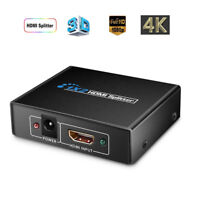 USA 1×2 HDMI Splitter v1.4D View 4K 3D 1080p One Input to Two Output Top ZJHN