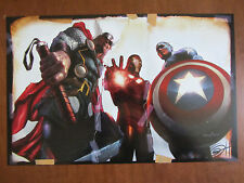 Thor/Iron Man/Captain America  STAY DOWN  Art Print - Signed by GREG HORN