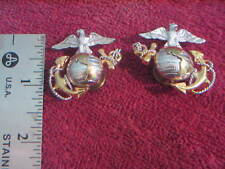 1- Pr Vietnam Era U.S.M.C. Officer'S Collar Insignia (Ega) Unissued