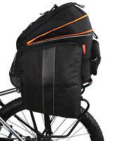 Ibera Bike Rear Seat Commuter Trunk Bag w/ Expandable Cycling Panniers NEW BA14
