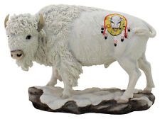 "Native American Sacred White Buffalo Resin 7"" High Statue Reproduction"