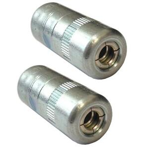 (PACK OF 2) Heavy Duty Grease gun end connector - hydraulic coupler 1/8 bsp