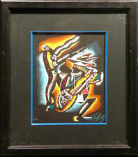 """Neal Doty """"Monterey Jazz""""with black frame Hand Signed Artwork MAKE AN OFFER"""