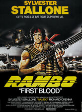 First Blood (1982) Rambo Sylvester Stallone movie poster 24x33 inches
