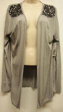 "*NWT Adorable RXB ""Gray"" Long Sleeve Front Drape Cardigan sz Large-Super Cute!!"