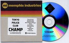 TOKYO POLICE CLUB Champ 2010 UK 11-track promo CD