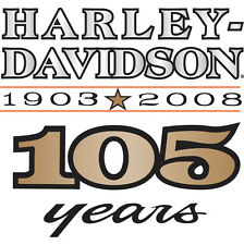HARLEY DAVIDSON 105TH ANNIVERSARY  DECAL