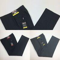 Kirkland Signature Men's Dress Pants Wool Flat Front Black Gray