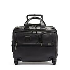 TUMI - Alpha 3 Deluxe 4 Wheeled Laptop Case Brief Leather -1171591041
