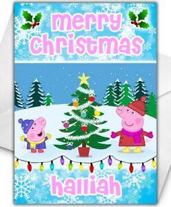 PEPPA PIG Personalised Christmas Card - Peppa Pig Christmas Card - D2