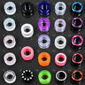 3-24mm Schraubtunnel Flesh Tunnel Plug Kunststoff Acryl Neon Strass Z105