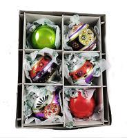 Radko Shiny Brite 6 Count Halloween Rounds & Reflectors Glass Ornaments Special