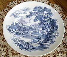 "Vintage Wedgwood Countryside England Blue Willow 10"" Plate ~"