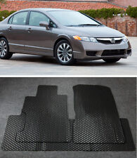 All Weather Black Rubber Floor Mats Liner Front Rear For 06-11 Honda Civic 4D