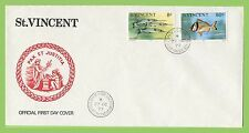 Fish British St Vincentian First Day Cover Stamps