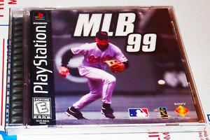 MLB 99 Baseball Black Label Sony Playstation 1 PS1 PS2 PSone Complete in Box CIB