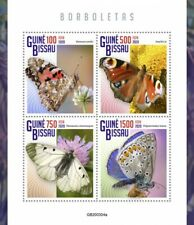Guinea-Bissau Butterflies Stamps 2020 MNH Peacock Butterfly Insects 4v M/S