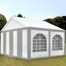 Partyzelt Pavillon 3x4m Bierzelt Festzelt Gartenzelt Vereinszelt Zelt grau-weiß