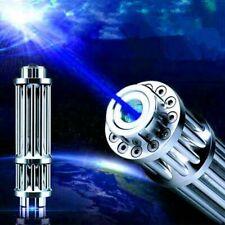 Blue Laser Pointer Pen Militar Burning Beam Light 20 Miles 450nm <1Mw High Power