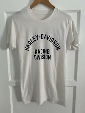 VINTAGE 80s HARLEY DAVIDSON RACING DOUBLE SIDED T-SHIRT SZ XS - S 50/50 70s