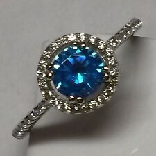 Gorgeous 1ct London Blue Topaz 925 Solid Sterling Silver Solitaire Ring sz 9.25