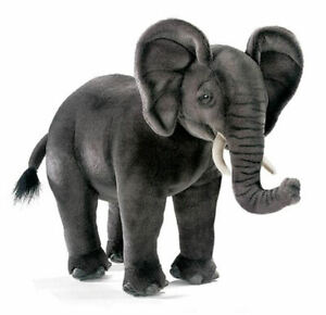 "NEW with Tag - African Elephant Cub Plush Stuffed Animal 17"" by Hansa Toys 3824"