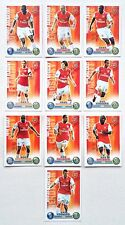Arsenal 10 Cards Topps Match Attax 2007-2008 Red Backs
