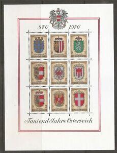 Austria SC # 1042a-i Millenium Of Austria - Coats Of Arms - MNH