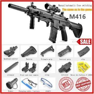 M416 Electric Action Weapon Gel Blaster Toy GUN WATER CRYSTAL Kids + BULLETS