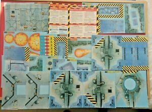 NECROMUNDA 1st edition Warhammer 40k 1995 Cards Sheets Original Terrain & Boards