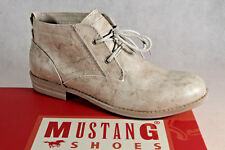 Mustang Ankle Boots Lace up Boots Beige New