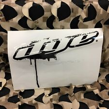 "New Dye Paintball Sticker Drip Angle 8"" - Black"