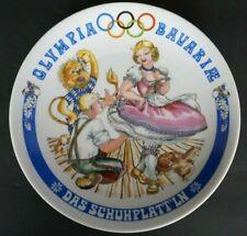 "1972 Olympia Seltmann Weiden China Bavaria West Germany 7 1/2"" Plate children"