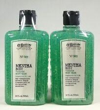 2 Bath & Body Works CO Bigelow MENTHA Body Wash Gel Vitamin Peppermint Oil 1411