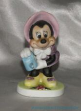 Vintage Disney Wdp Minnie Mouse In Gardening Outfit Porcelain Bisque Figurine