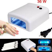 36W UV Nail 4 Tube Lamp Polish Timer Dryer Gel Acrylic Curing Light Spa Kit