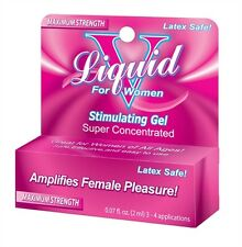 LIQUID V FOR WOMEN 1 PACKET BOX Formulated in a thick gel lubricant lube