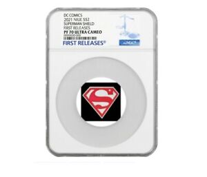 2021 SUPERMAN SHIELD - 1 OZ. SILVER - NGC PF70 FIRST RELEASES - Pre Sale!