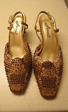 Annie Slip on Gold Shoes style #33715 Size 7.5W