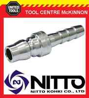 """GENUINE NITTO MALE COUPLING AIR FITTING WITH 1/4"""" HOSE BARB (20PH) – JAPAN"""