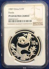 China 1987 10 Yuan Silver Proof Panda - NGC PF69UC - SN:4909707-017