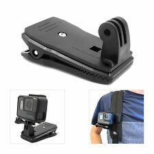 360° Rotary Backpack Hat Belt Clip Fast Clamp Mount for Gopro Hero 6 5 4 3+ 3 2
